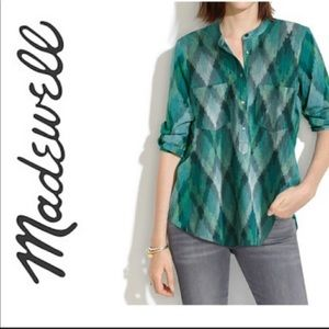 Madewell Wellspring Pixel Ikat Tunic Popover Shirt